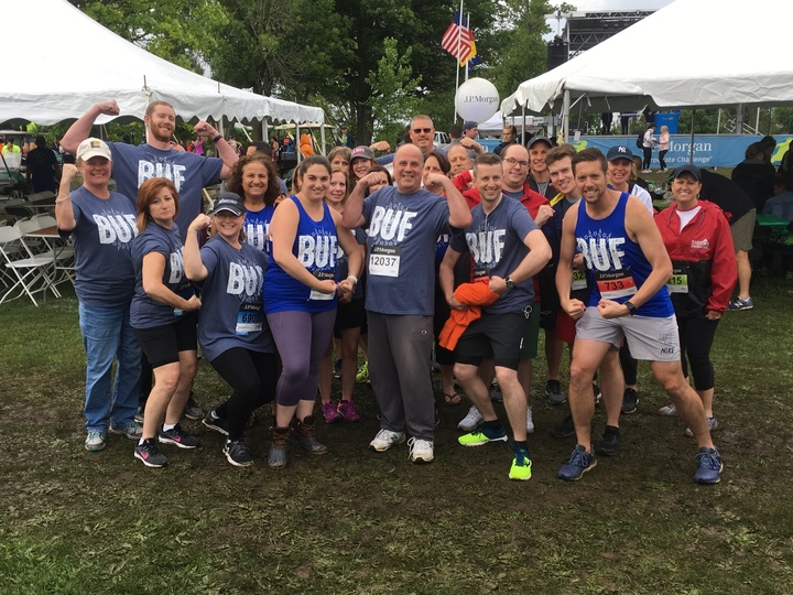 "Merchants Insurance Group Is ""Buf"" At The Buffalo Corporate Challenge T-Shirt Photo"