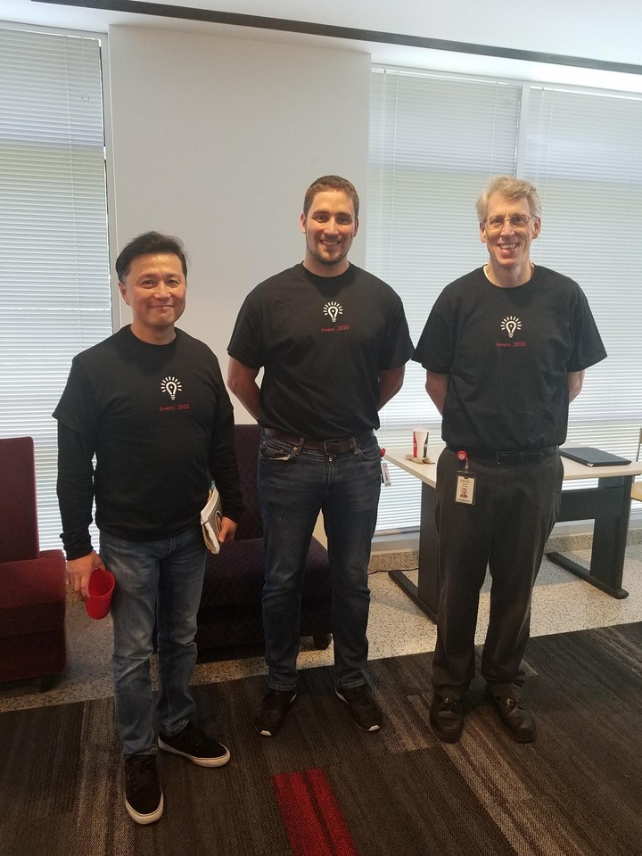 Toshiba Gcs Executive Team At The Invention Challenge Kickoff Event T-Shirt Photo