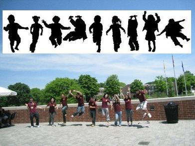Group Jumping T-Shirt Photo