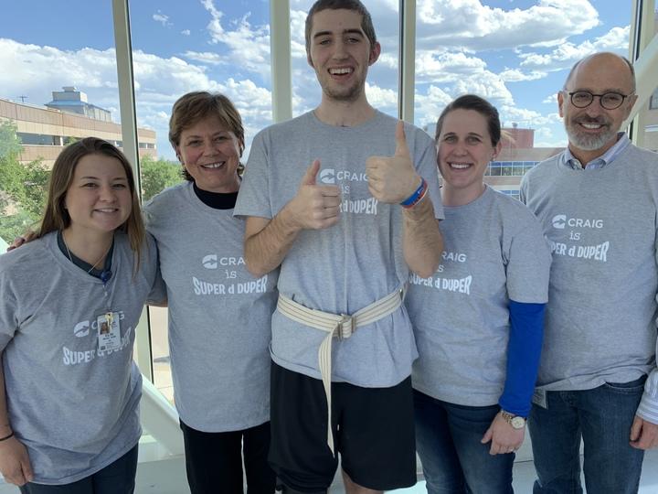 Aidan's Brain Injury Rehab Team Is Super D Duper T-Shirt Photo