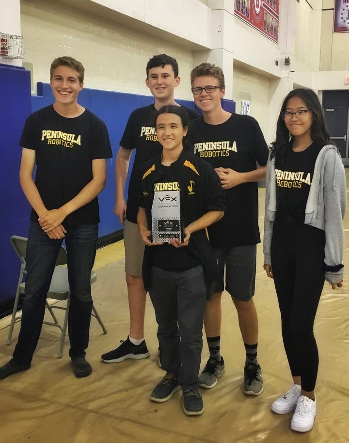 Winners Of The Judges Award For Vex Robotics. T-Shirt Photo