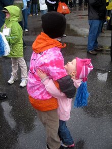 Hugging Cousins Walk For A Cure! T-Shirt Photo