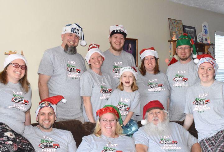 Lay Family Christmas 2019 T-Shirt Photo