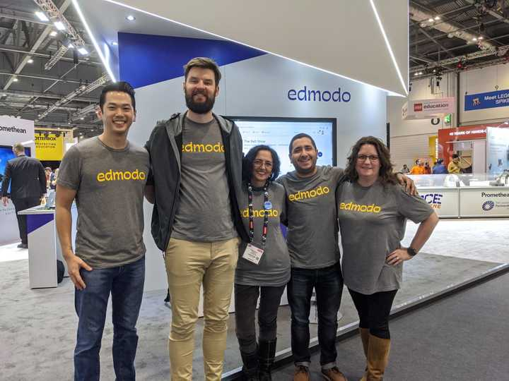 The Edmodo Team At Bett T-Shirt Photo