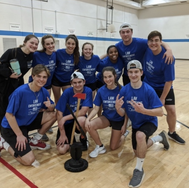 Law Enforcement Champs Of Kickball Game  T-Shirt Photo