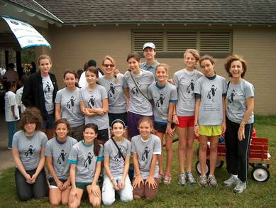 Sarah's Schoolmates Join Her In Her Quest To Cure Diabetes. T-Shirt Photo