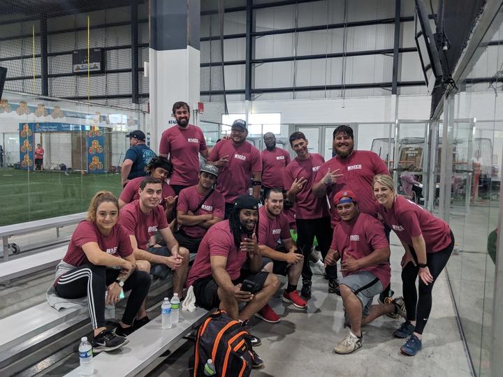 Team Meb At The Hampton Roads Corporate Challenge   Dominating In Kickball! : ) T-Shirt Photo