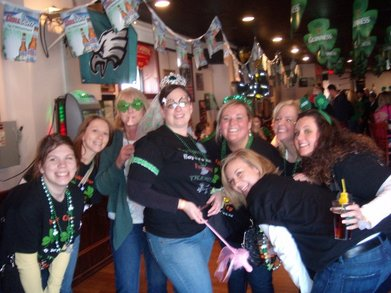 The Shakin' Shamrock Girls At Heather's Bachelorette Party T-Shirt Photo