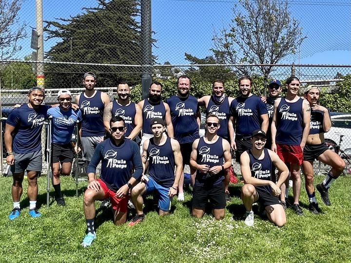 Dula Peeps Kickball Team T-Shirt Photo