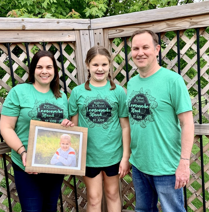 Nathan And Olivia's Lemonade Stand For St. Jude T-Shirt Photo