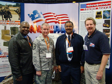 Trade Show Photo With The Military T-Shirt Photo