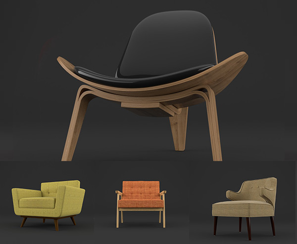 3dmodernchairs