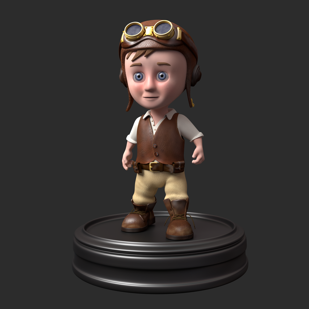 Steampunk kid render