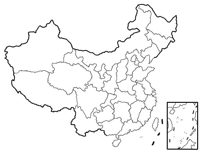 china-blank-map