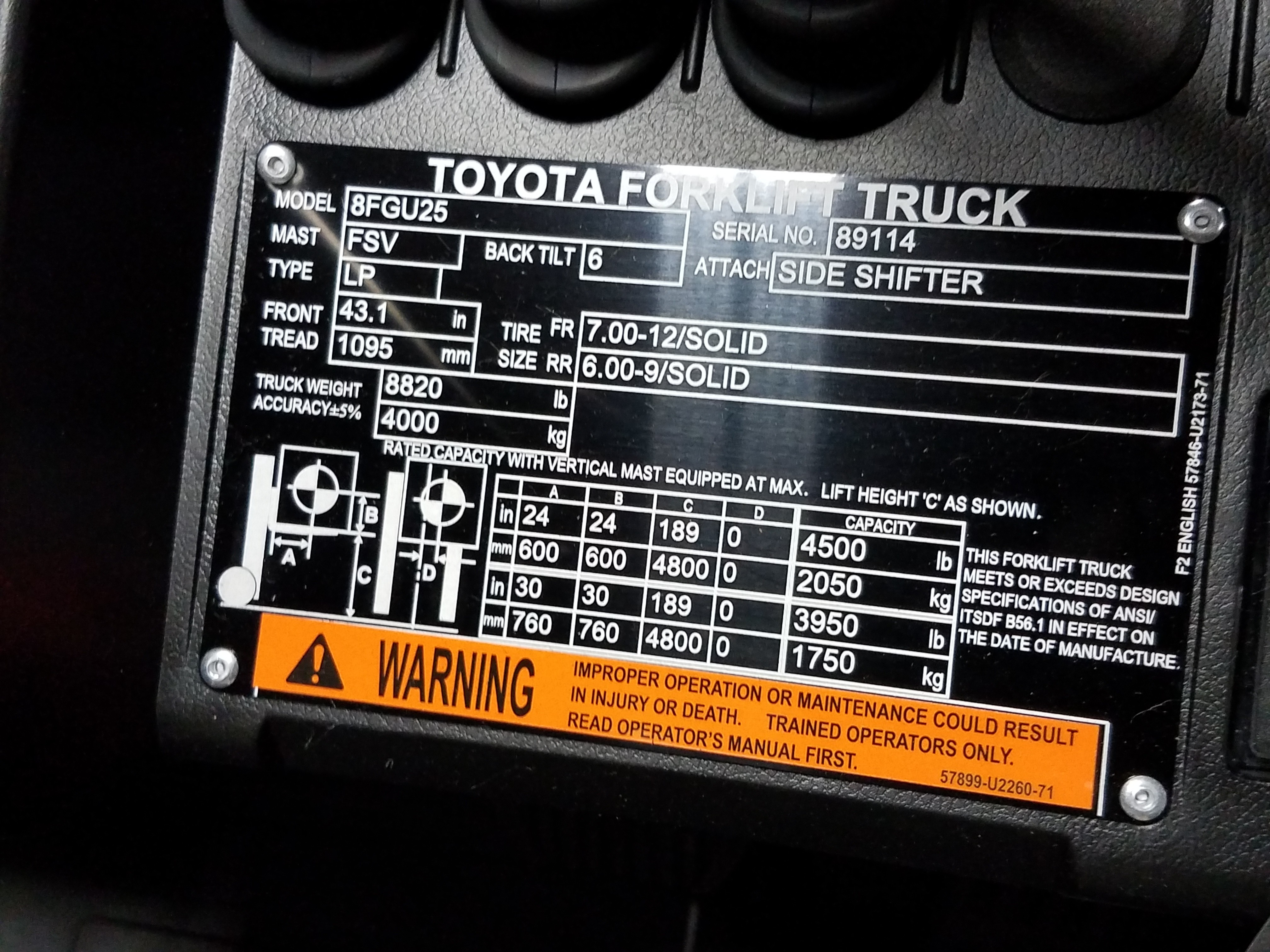 Toyota Forklift Manual 8fgu25 The Amazing Wiring Harness New Industrial Equipment In Elk Grove Village Il