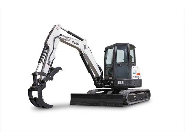 Used, 2017, Bobcat, E45 (Long Arm Option), Excavators