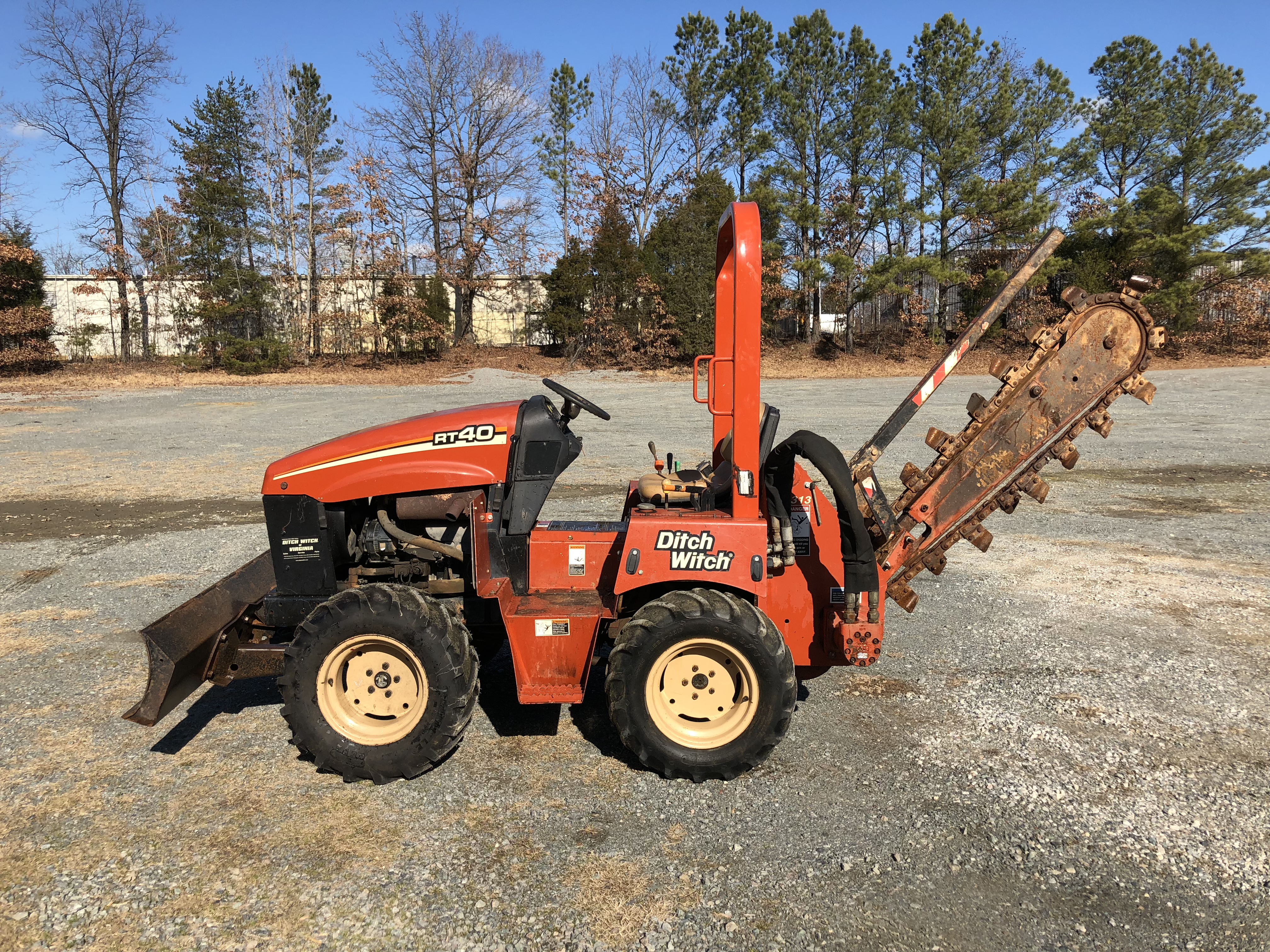 Used 2004 Ditch Witch RT40 Trencher in Glen Allen, VA