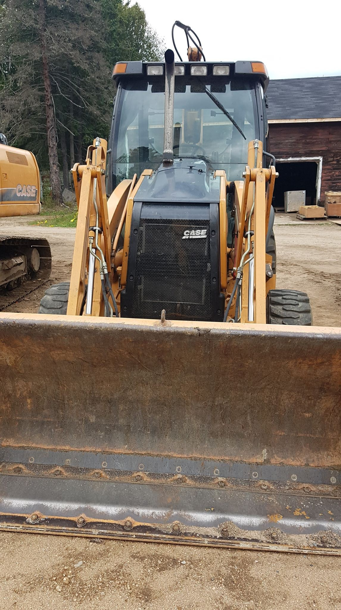 Used 2010 Case Construction 580 Super M - GP 93-inch Bucket in