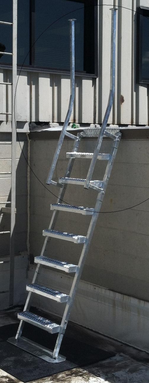 New Parapet Back Ladder System in Brighton, MI