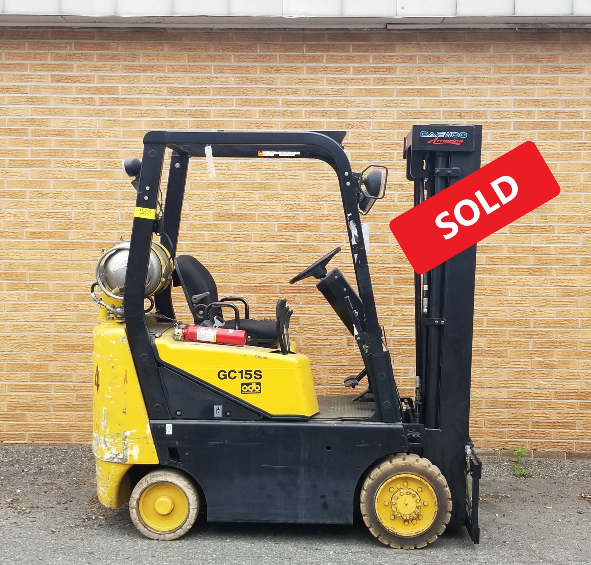 Used, 2001, Daewoo, GC15S-2, Forklifts
