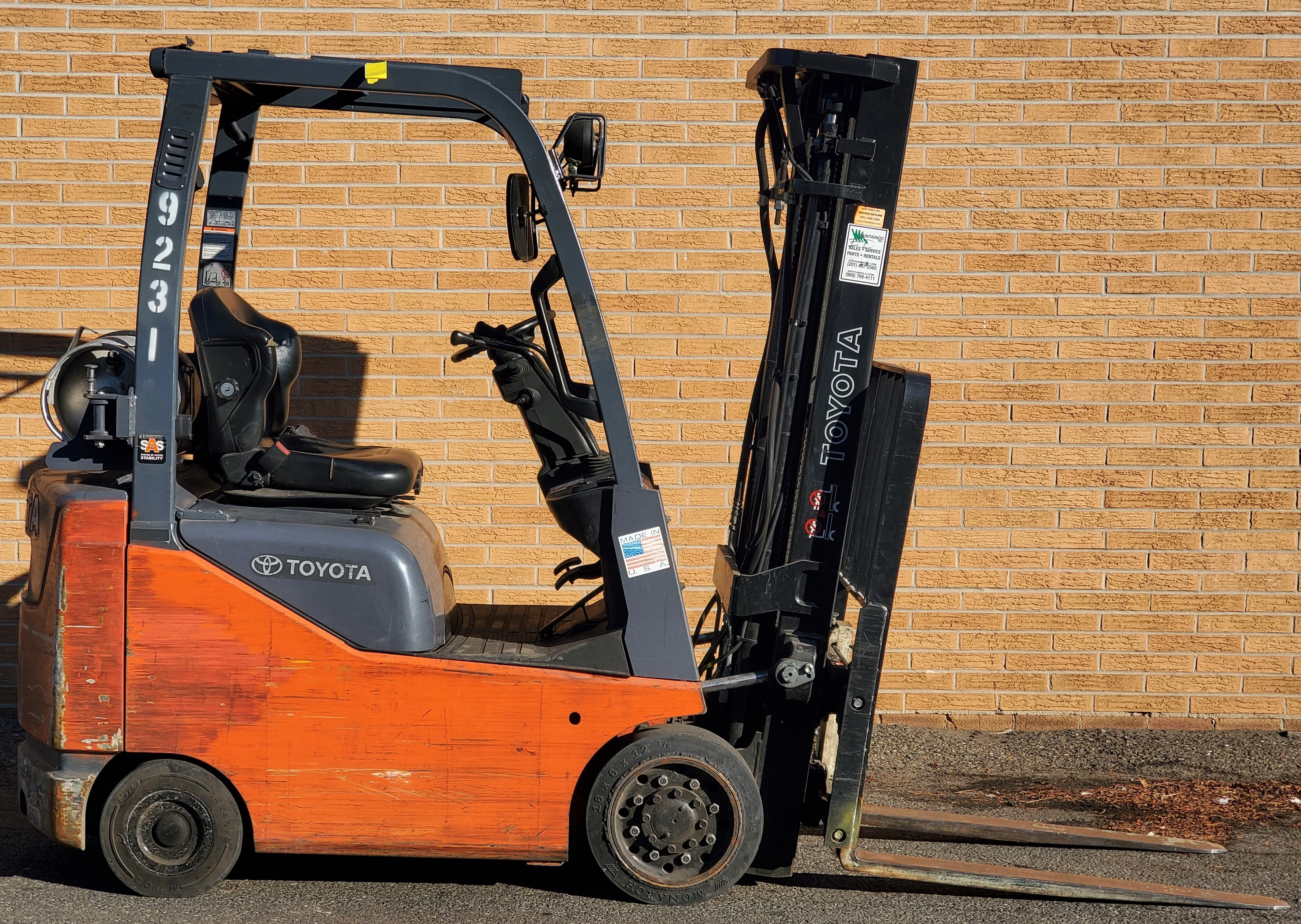 Used, 2014, Toyota Industrial Equipment, 8FGCU15, Forklifts / Lift Trucks