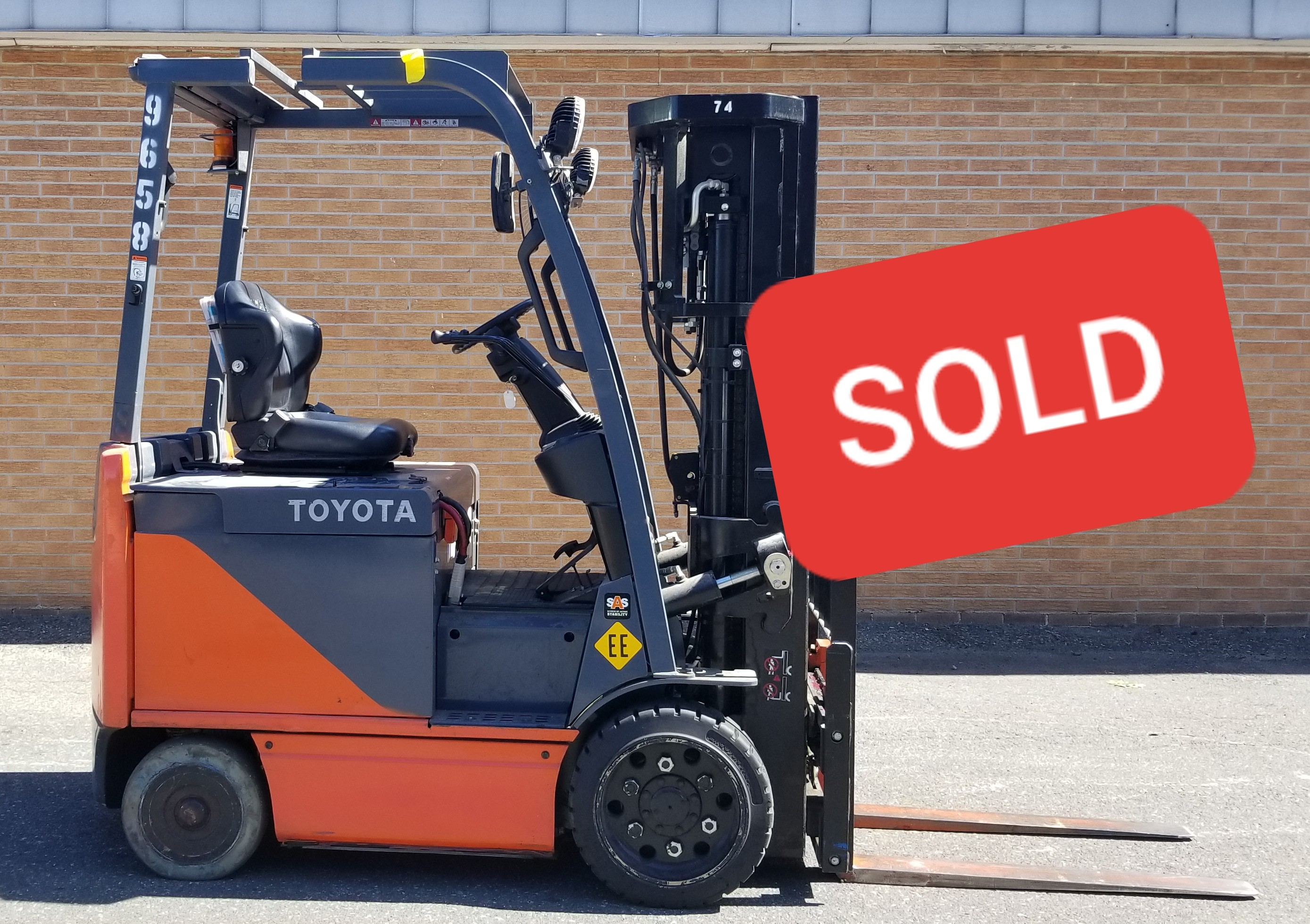 Used, 2013, Toyota Industrial Equipment, 8FBCU25, Forklifts / Lift Trucks