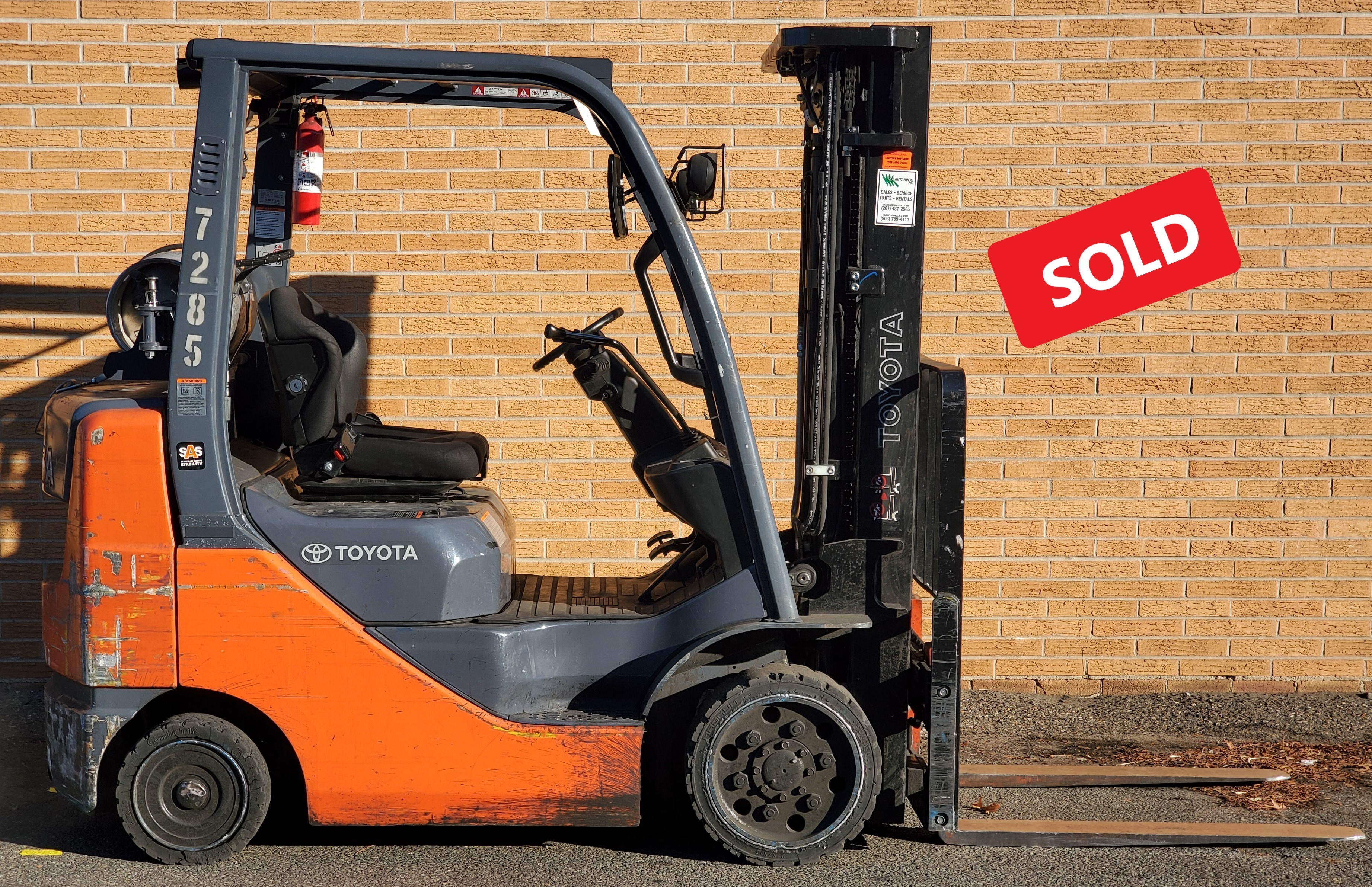 Used, 2013, Toyota Industrial Equipment, 8FGCU25, Forklifts / Lift Trucks