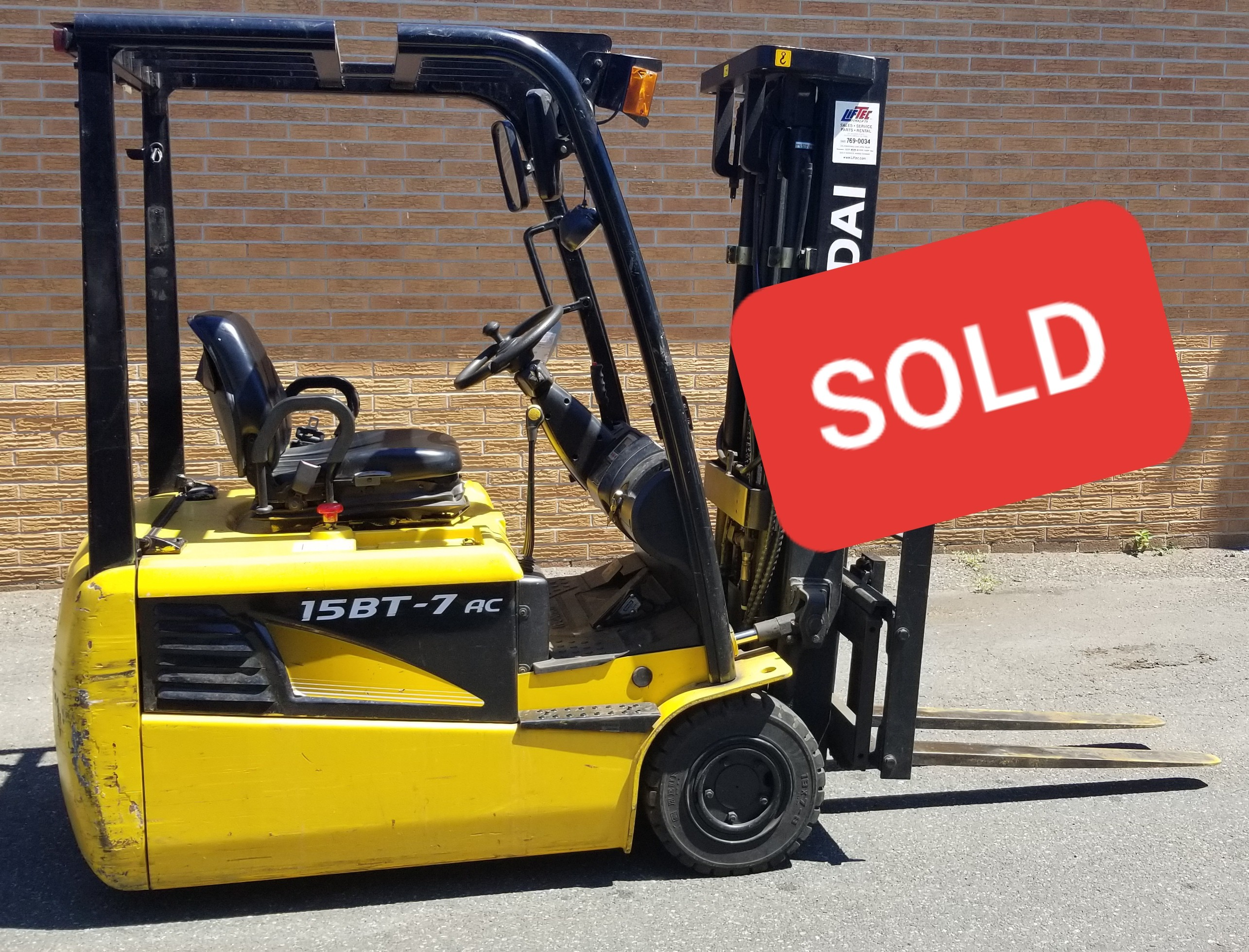 Used, 2015, Hyundai, 15BT-7, Forklifts / Lift Trucks