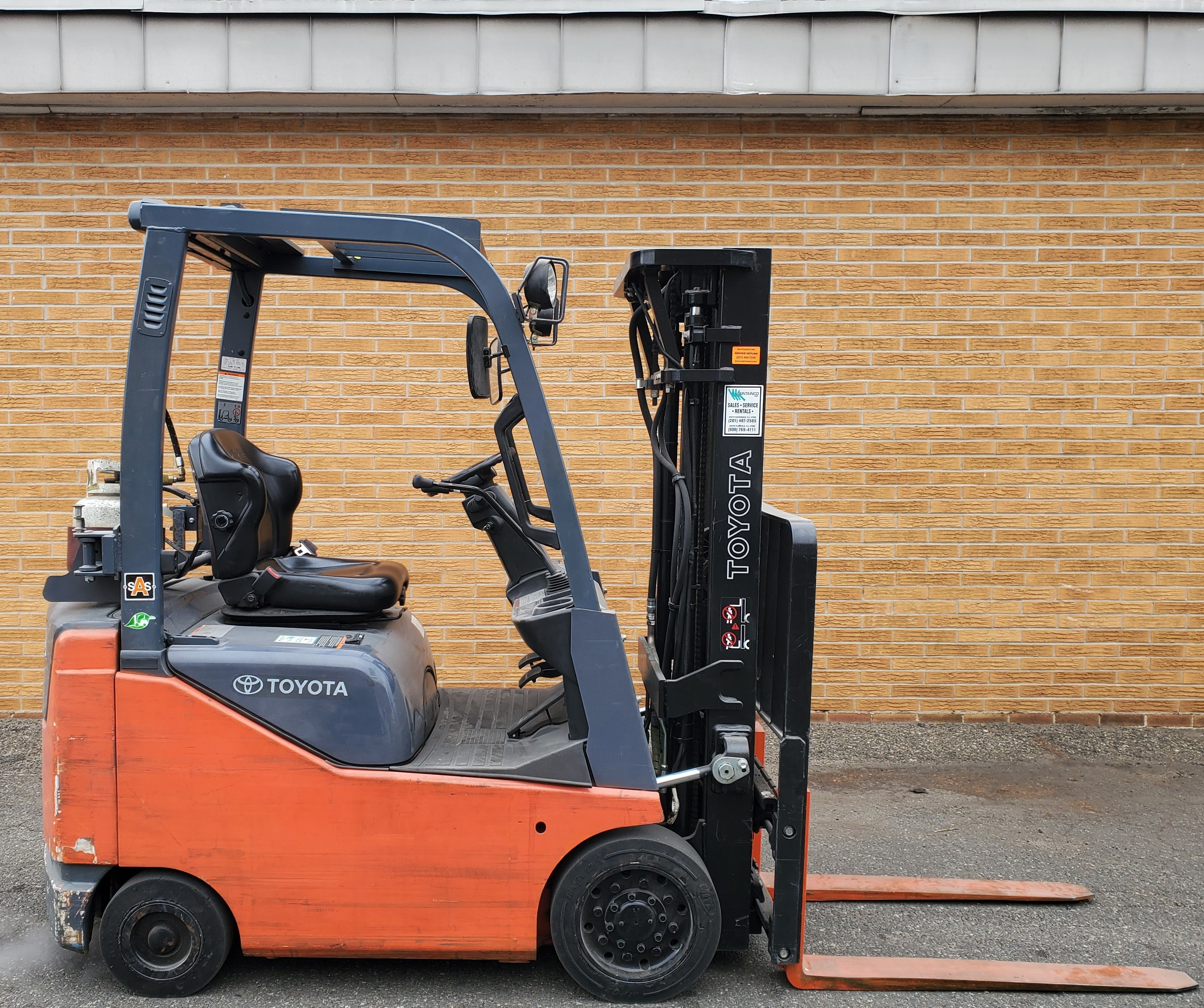 Used, 2009, Toyota Industrial Equipment, 8FGCU15, Forklifts / Lift Trucks
