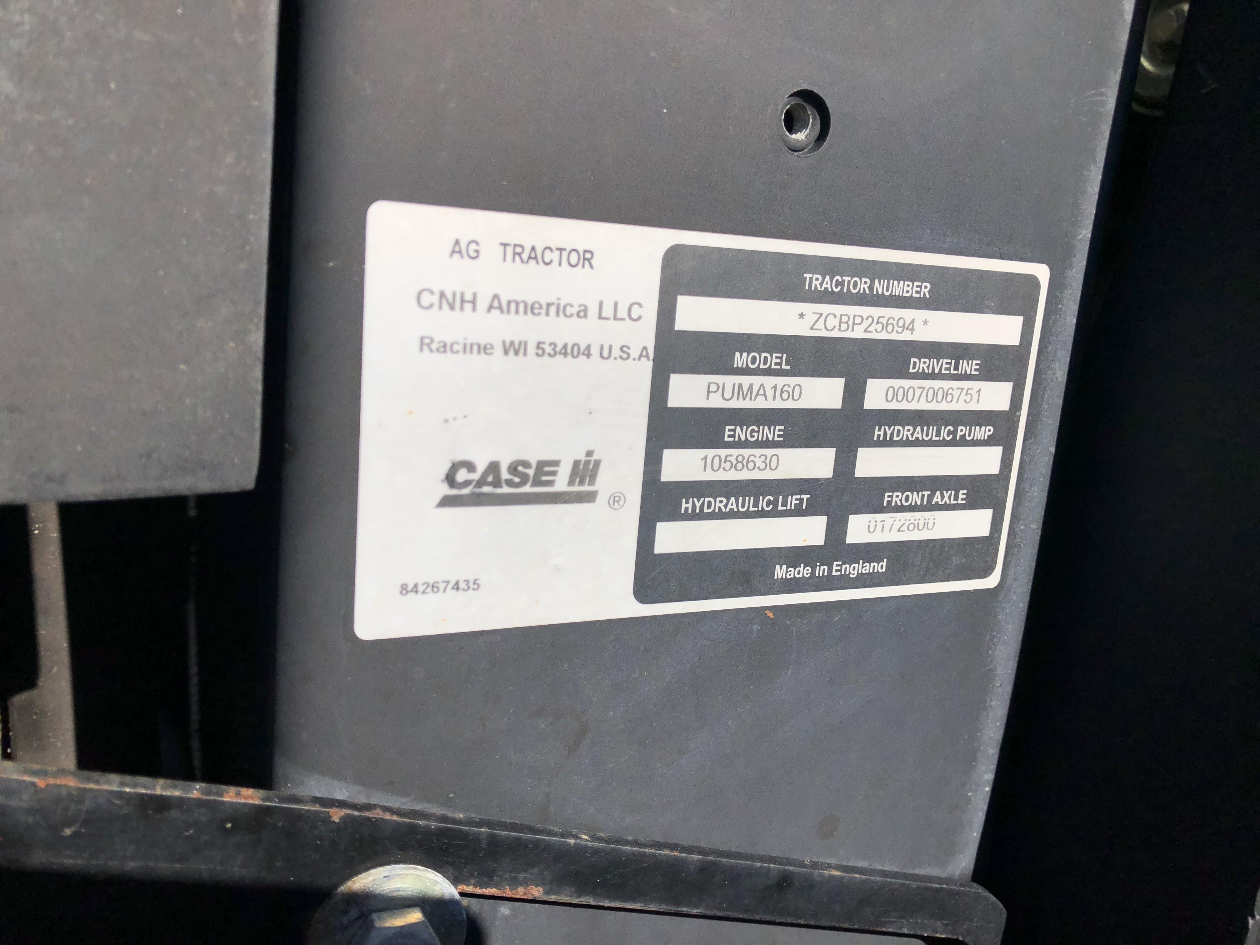 2013 Case IH Puma® 160