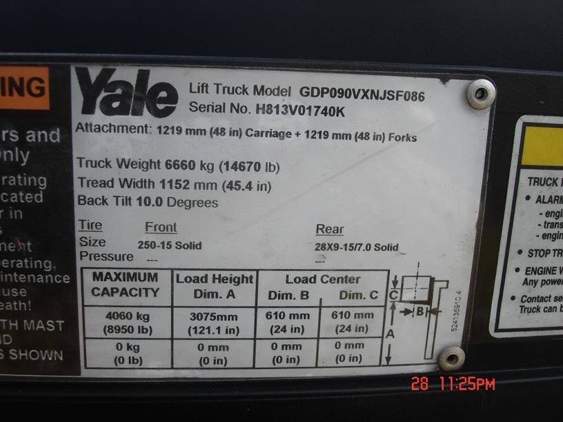 Used 2012 Yale GDP090VXNJSF086 in Pompano Beach, FL