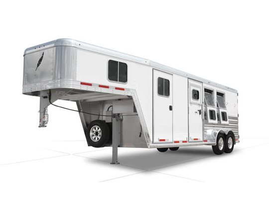 ... the Featherlite Legend model 8542 captivates the most discerning horse owners. Highlighted by square cornered drop down feed doors unload doors and ...
