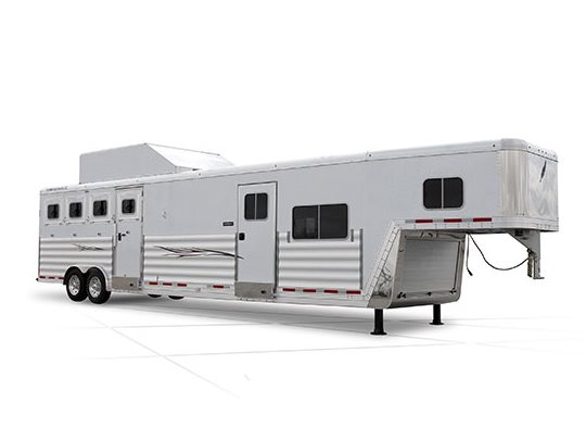 That and more awaits with the rugged Featherlite Legend Edition model 8582. Square cornered drop down feed doors unload doors and c&er doors create a ...