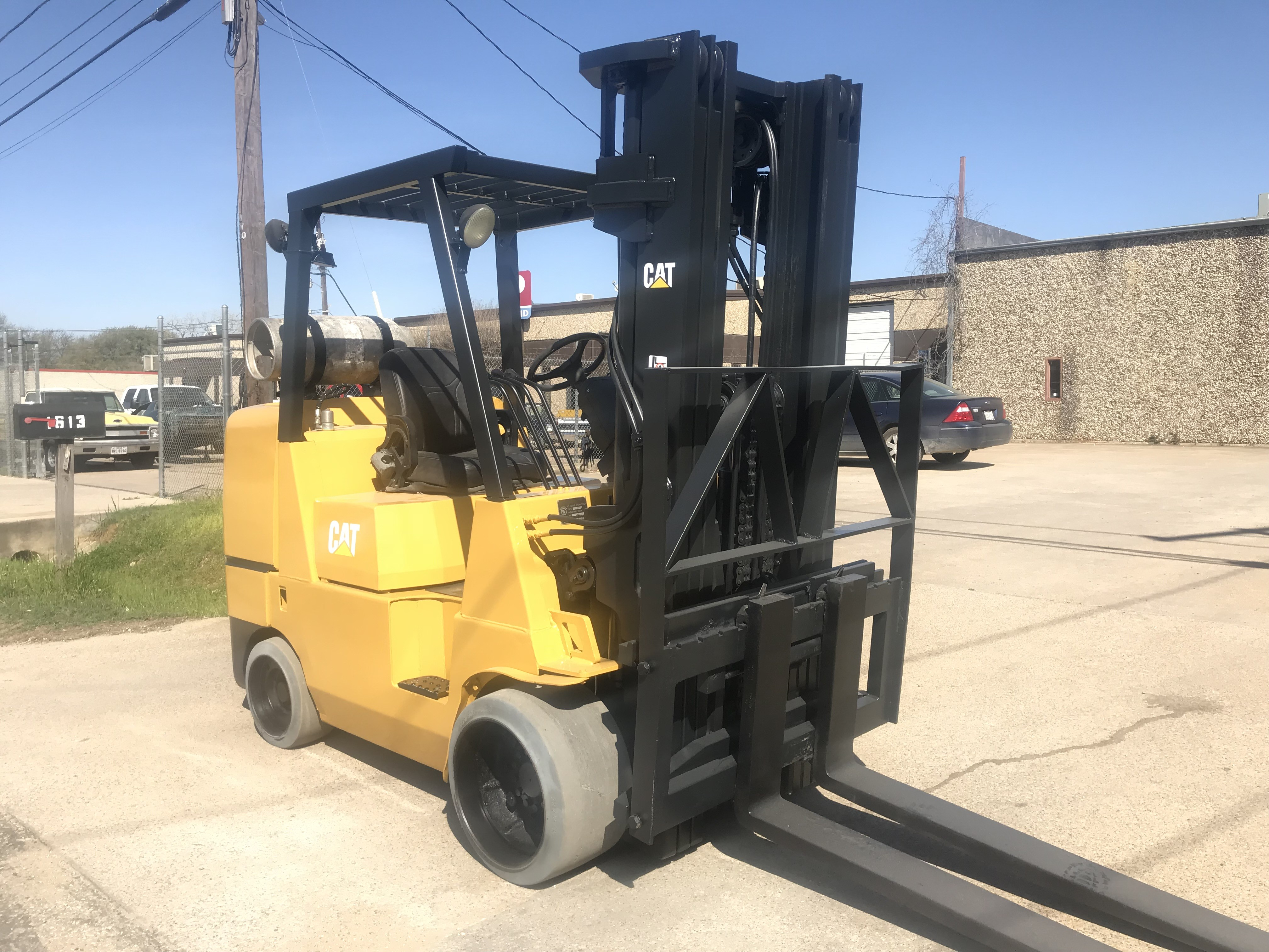 mitsubishi forklifts tires tire forklift hobbs cushion naumann le used equ