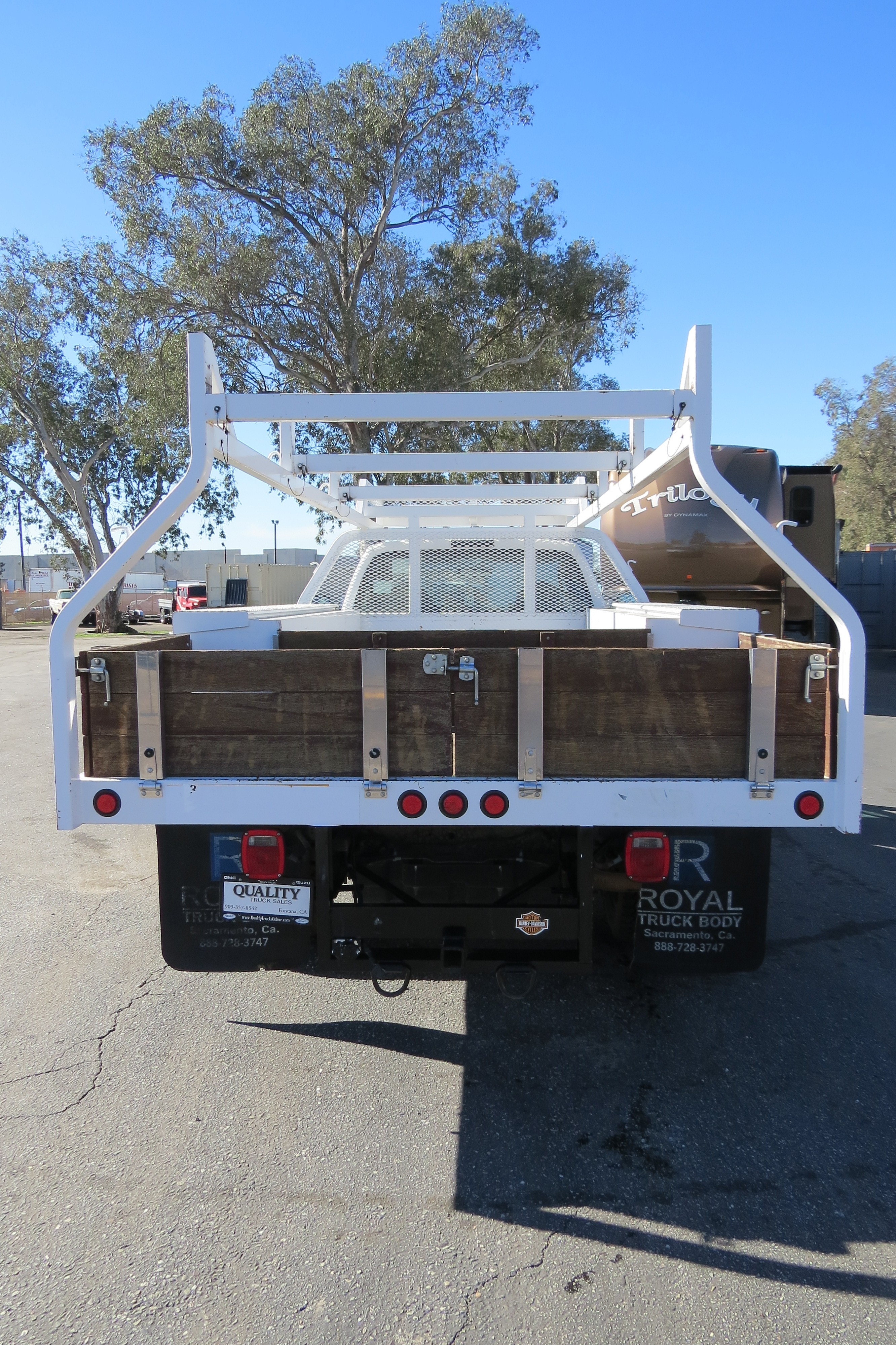 Used 2004 Ford F-450 12 ft  Flatbed Contractor Utility Truck
