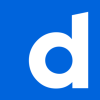 Dailymotion icon on blue