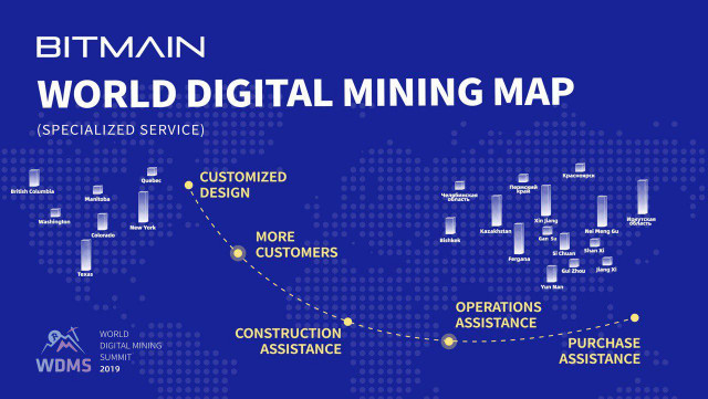Bitmain to launch the World Digital Mining Map this October