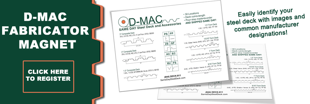 Non-Composite Floor/Form Decks - D-MAC Industries