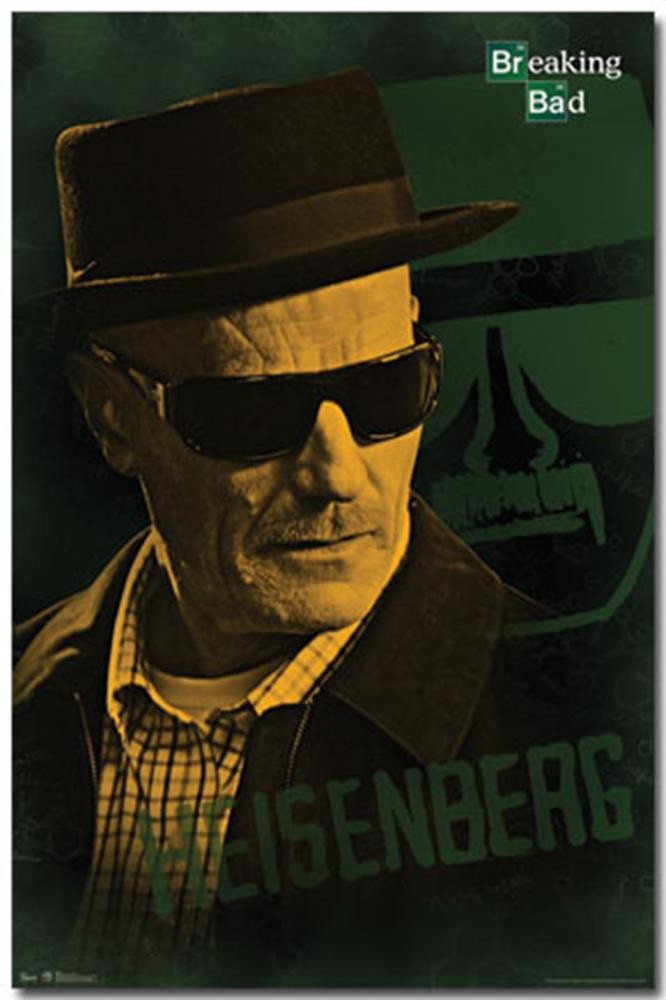 breaking bad heisenberg poster poster from wh posters for only at the movie and tv store. Black Bedroom Furniture Sets. Home Design Ideas