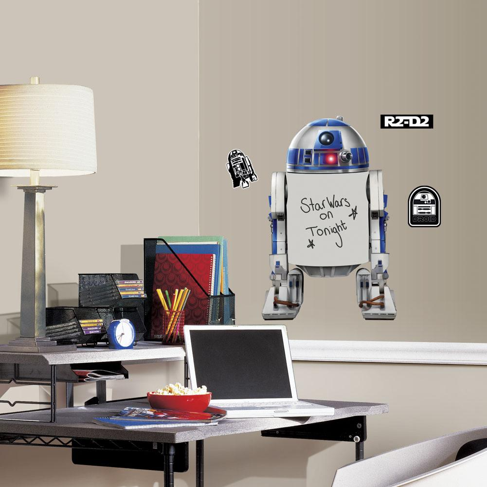 star wars r2 d2 dry erase giant wall decals wall art from roommates for only at the. Black Bedroom Furniture Sets. Home Design Ideas