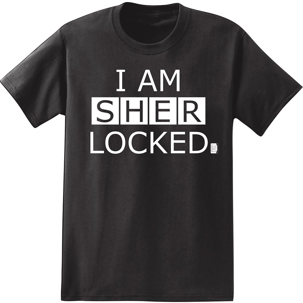 Black Sherlock I Am Sherlocked Black Cotton T-Shirt T ... I Am Sherlocked Shirt