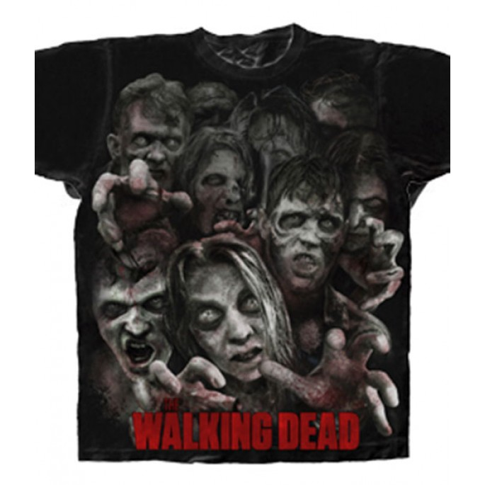 The Walking Dead Zombie Horde Adult T-Shirt