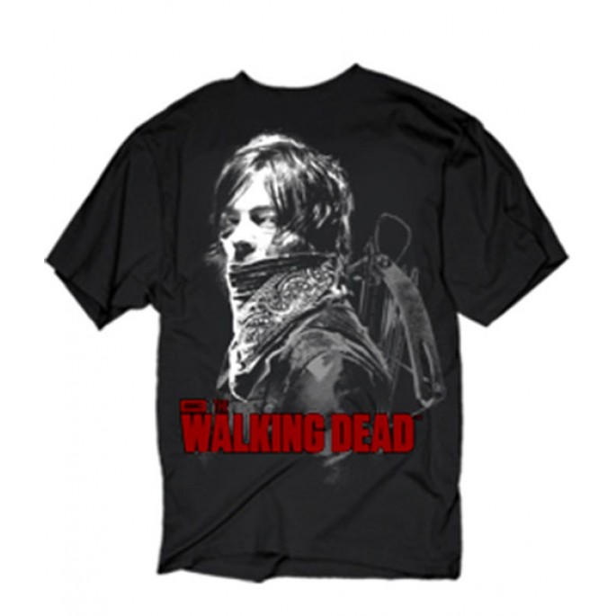 The Walking Dead Daryl with Bandana Adult T-Shirt