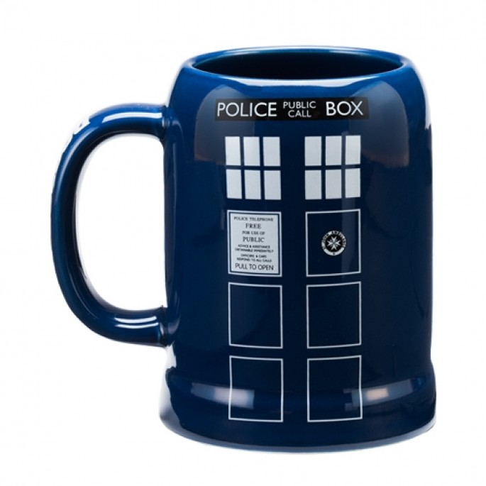 Doctor Who TARDIS 20 oz. Ceramic Stein
