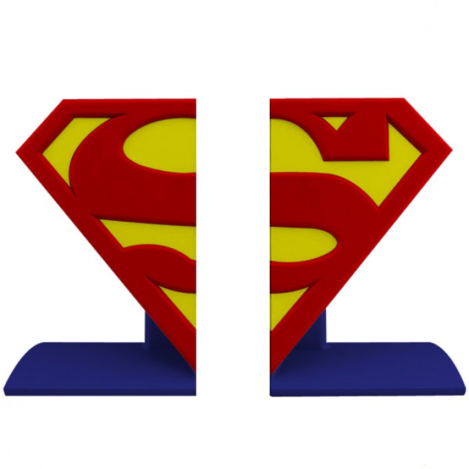 Superman Logo Bookends