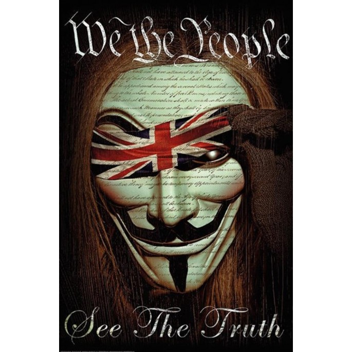 V for Vendetta We The People Poster