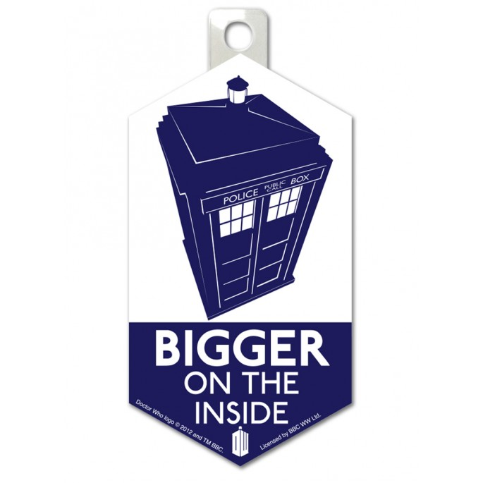 Doctor Who Bigger on the Inside Sticker