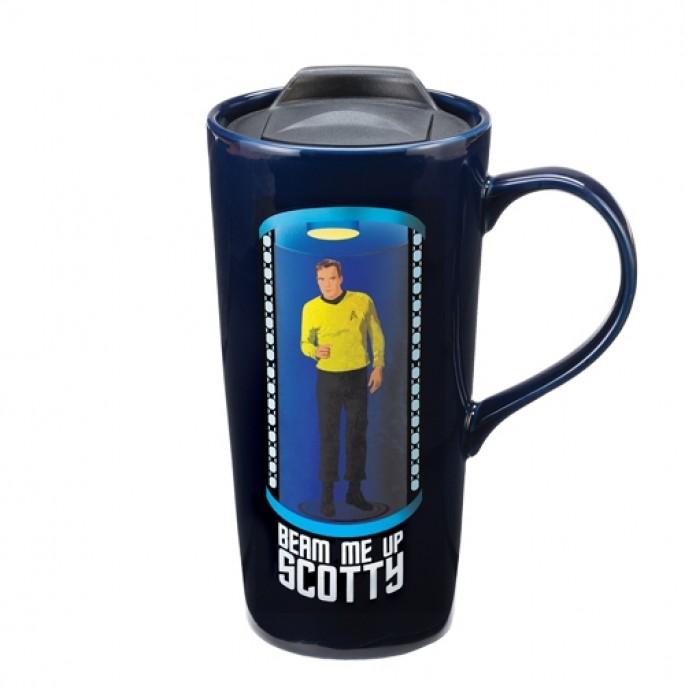 """Star Trek """"Beam Me Up"""" Heat Reactive 20 oz. Ceramic Travel Mug"""