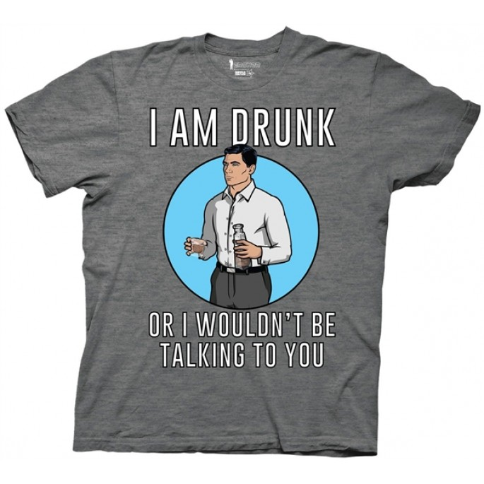 Archer I Am Drunk Adult T-Shirt