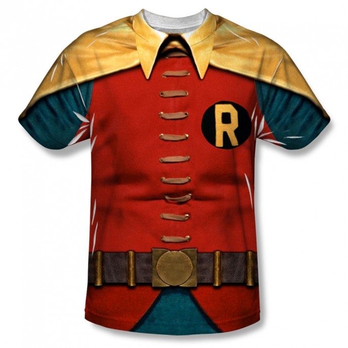 Batman Classic Robin Single Sided Sublimation Adult T-shirt
